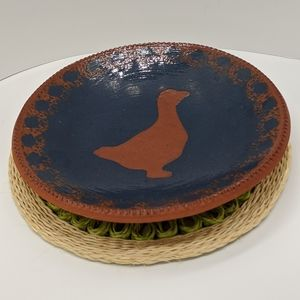 C.N. (NED FOLTZ) 1986 Redware Goose Plate
